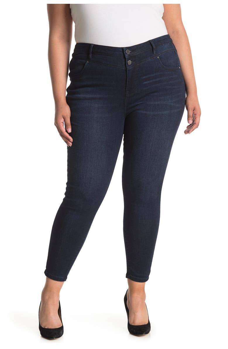 CURVE APPEAL In Total Control High Rise Jeans, Main, color, LONDON