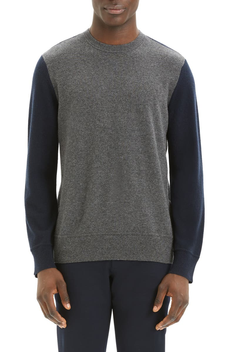 THEORY Hilles Standard Fit Crewneck Cashmere Sweater, Main, color, 078