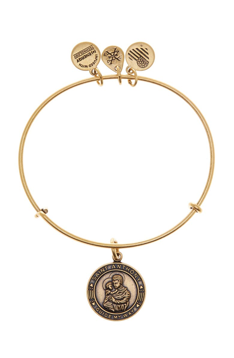 ALEX AND ANI 'St. Anthony' Wire Bangle, Main, color, 220