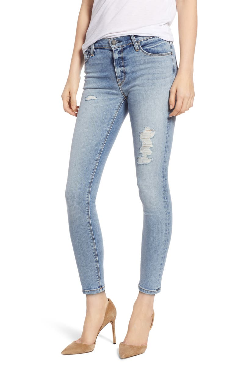 HUDSON JEANS Nico Ankle Skinny Jeans, Main, color, 420