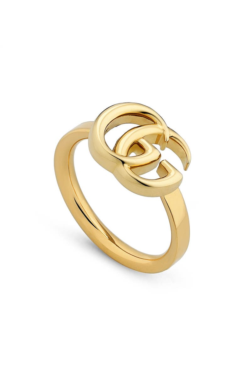 GUCCI GG Running 18k Gold Ring, Main, color, GOLD
