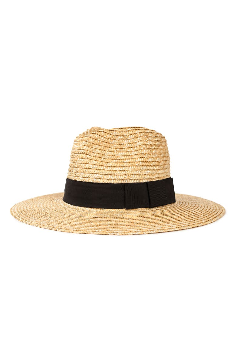 BRIXTON Joanna Straw Hat, Main, color, HONEY/BLACK