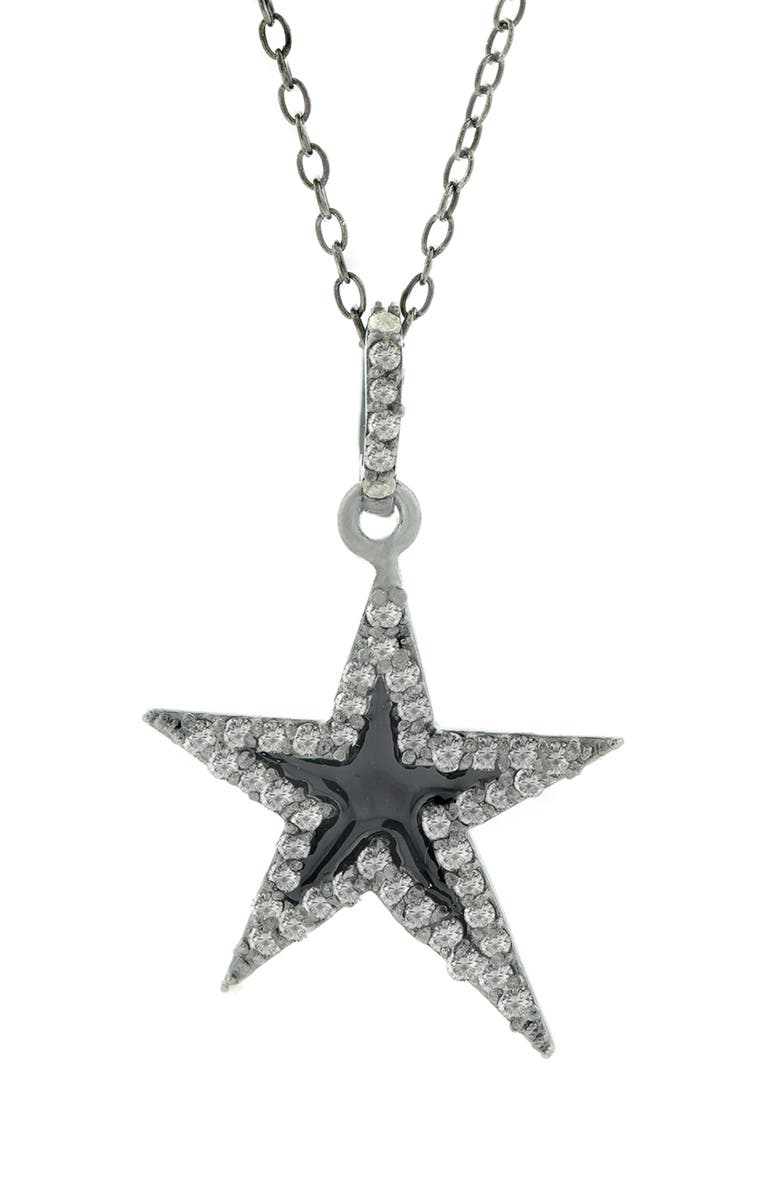 ADORNIA FINE ADORNIA Star Pendant Necklace, Main, color, 001