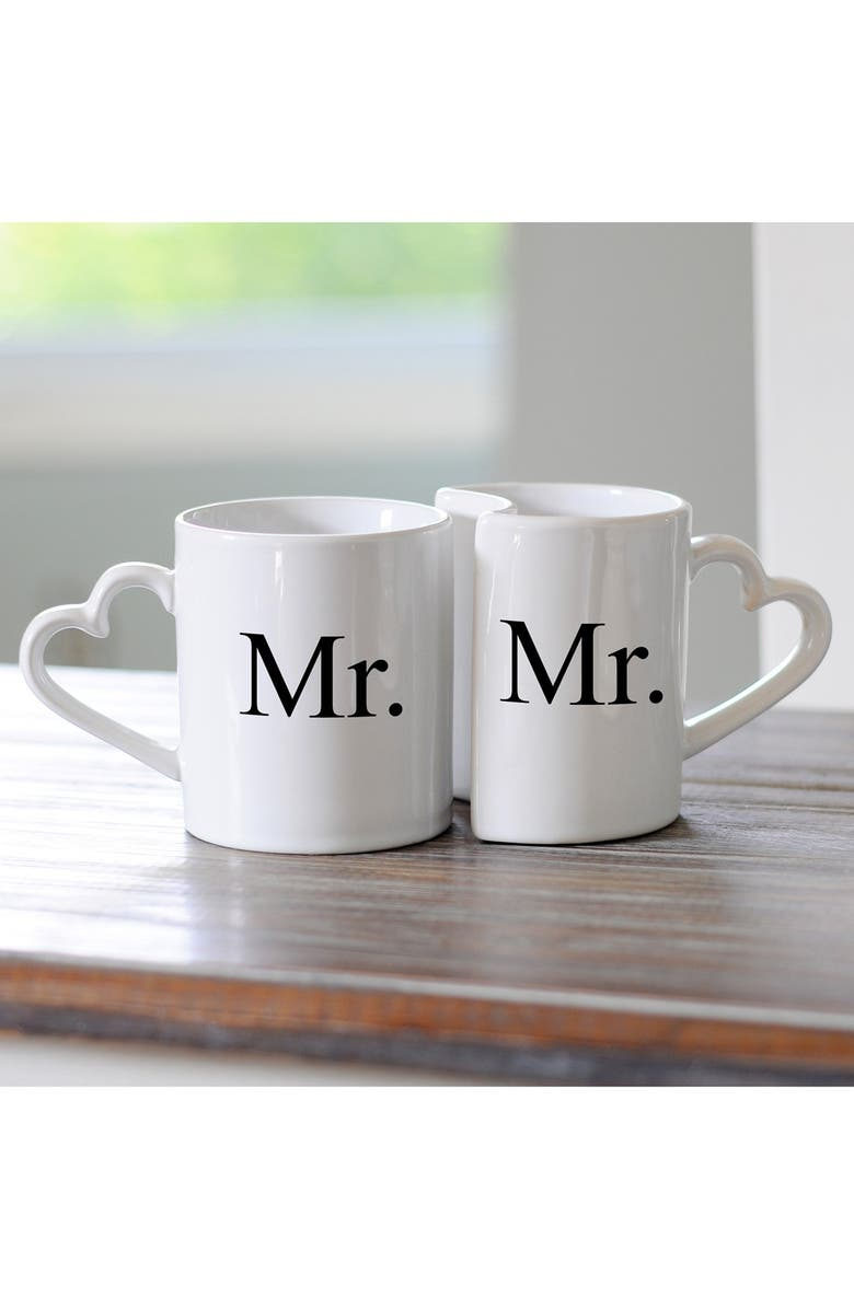 CATHY'S CONCEPTS 'For the Couple' Ceramic Coffee Mugs, Main, color, 101
