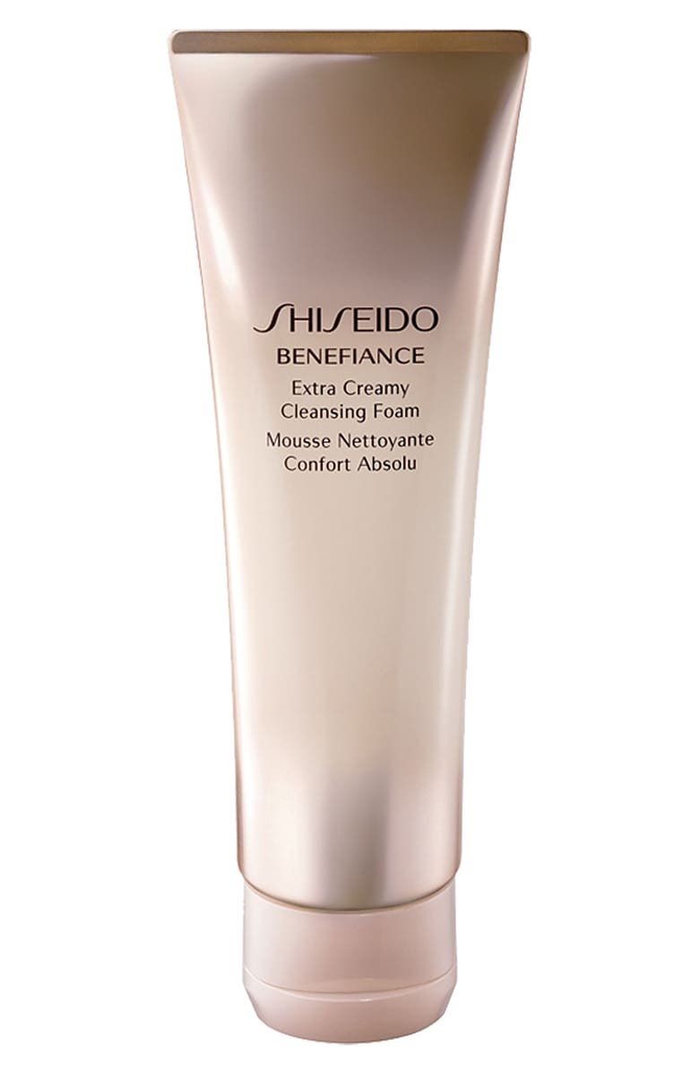 SHISEIDO 'Benefiance' Extra Creamy Cleansing Foam, Main, color, 000