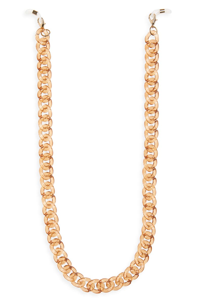 THE BOOK CLUB Chunky Glasses Chain, Main, color, CRYSTAL TAN
