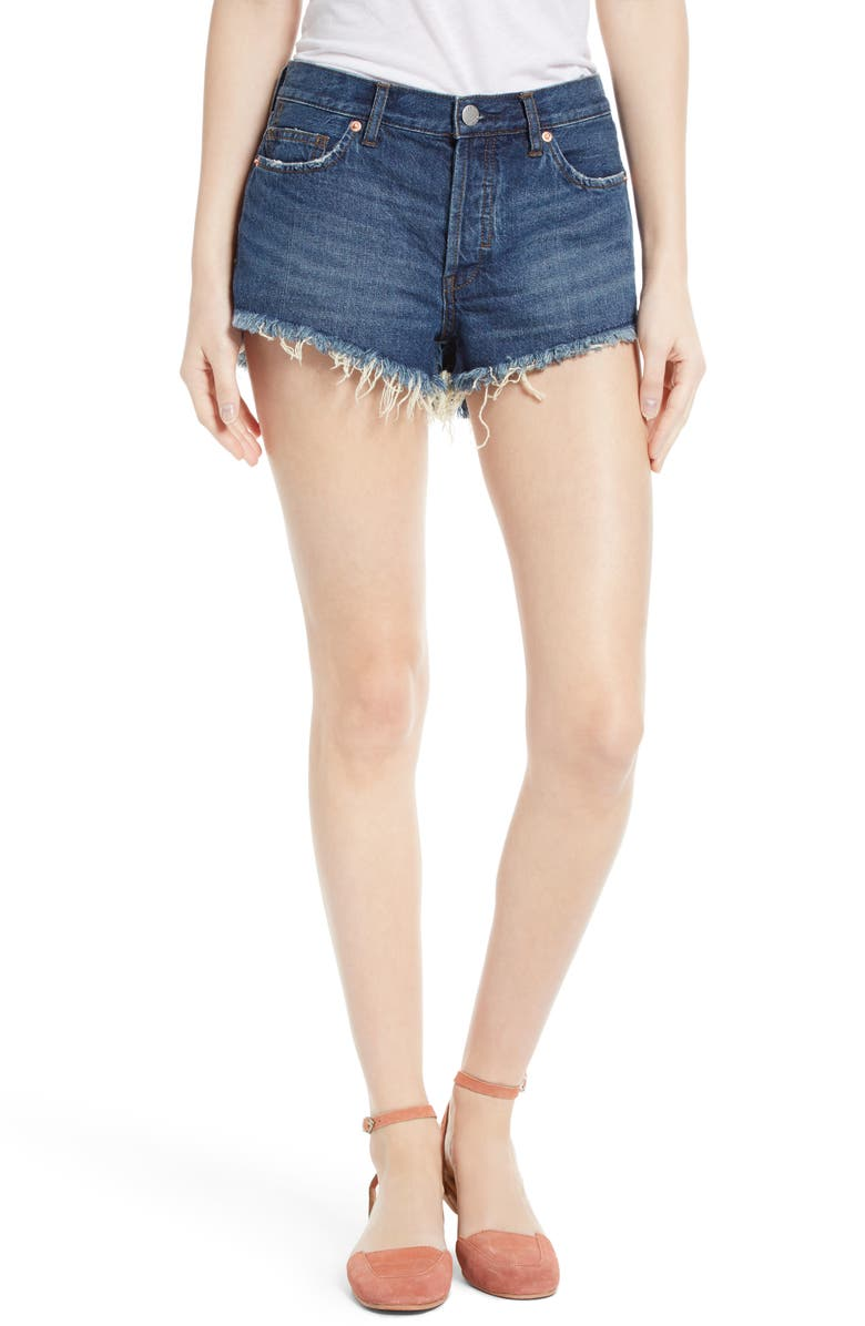 FREE PEOPLE Cutoff Denim Shorts, Main, color, 400