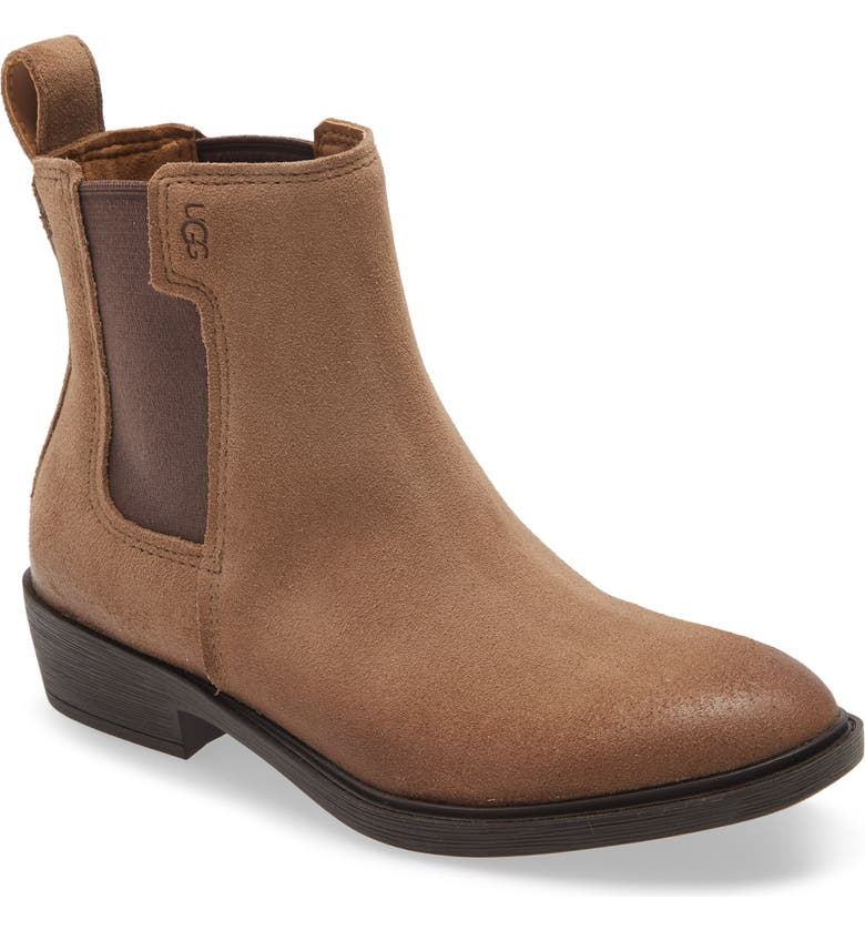 UGG<SUP>®</SUP> Emmeth Waterproof Chelsea Boot, Main, color, COFFEE GROUNDS SUEDE