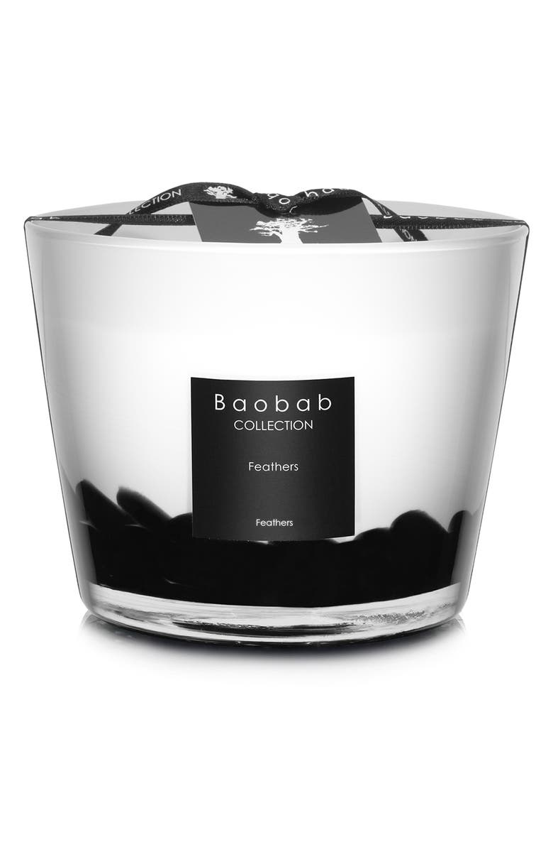 BAOBAB COLLECTION Feathers Candle, Main, color, FEATHERS- SMALL