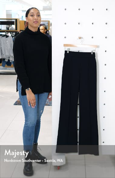 The Perfect Black Pant High Waist Ponte Flare Pants, sales video thumbnail