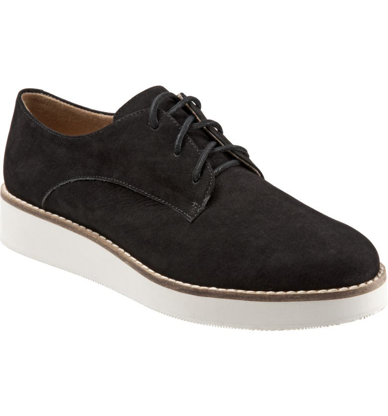 SOFTWALK<SUP>®</SUP> Willis Derby, Main, color, BLACK LEATHER