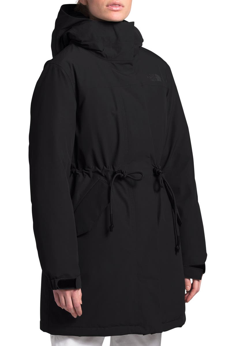 THE NORTH FACE Metroview Trench Water Repellent & Windproof Rain Coat, Main, color, BLACK