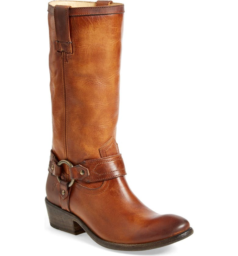 FRYE 'Carson Harness' Western Mid Calf Riding Boot, Main, color, 200