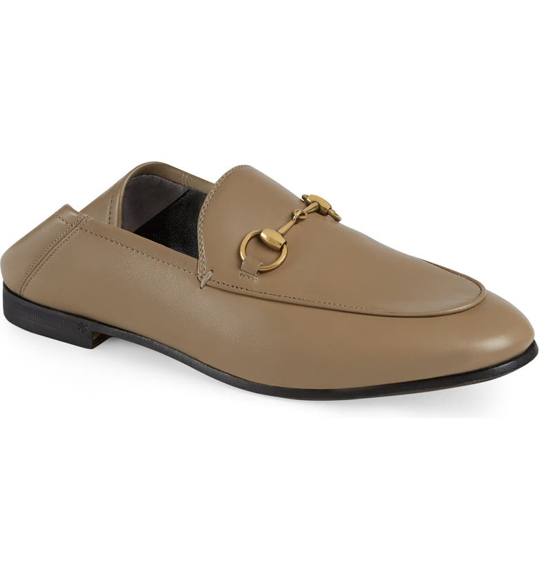 GUCCI Brixton Horsebit Convertible Loafer, Main, color, MUD