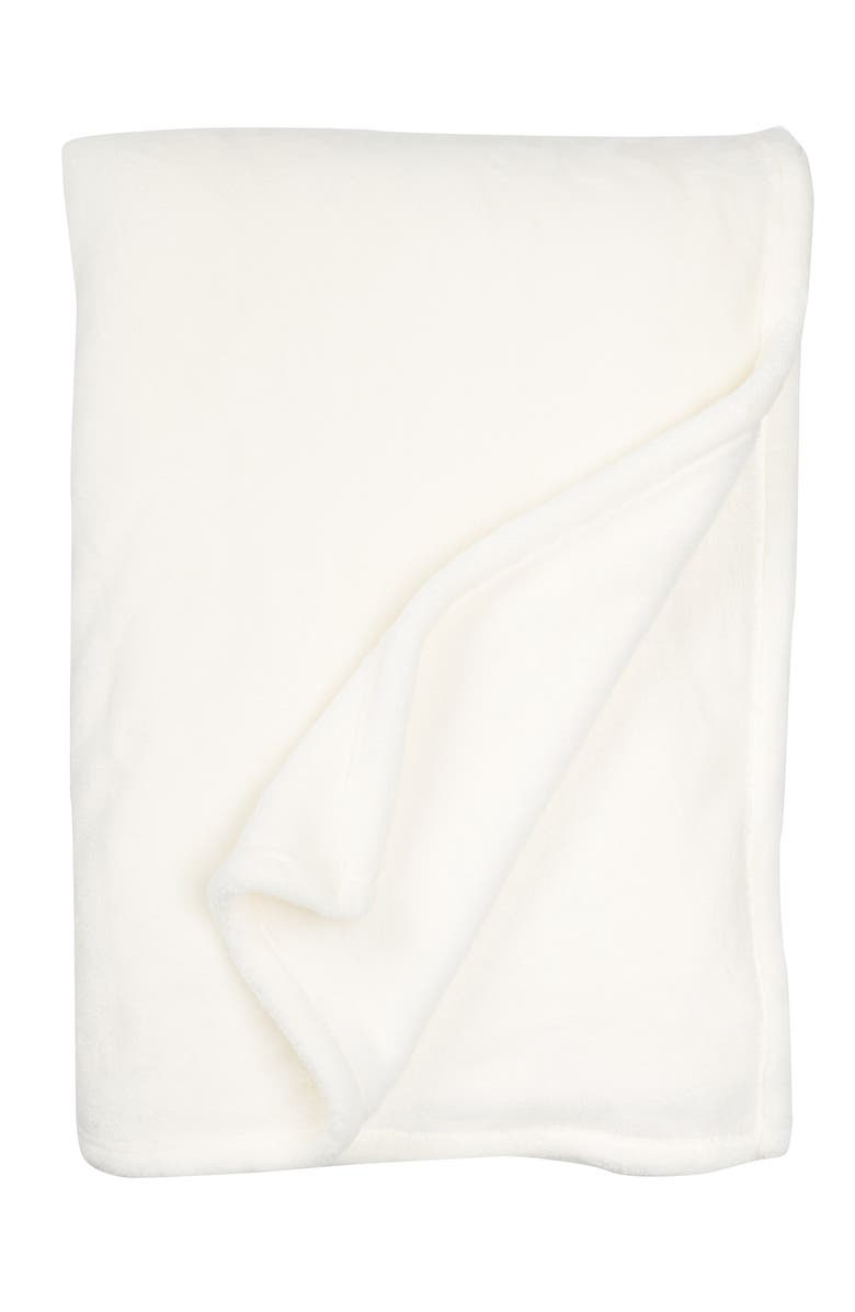 NORDSTROM RACK Softest Plush Blanket - Twin XL, Main, color, IVORY