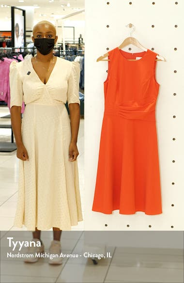 Ruched Fit & Flare Dress, sales video thumbnail