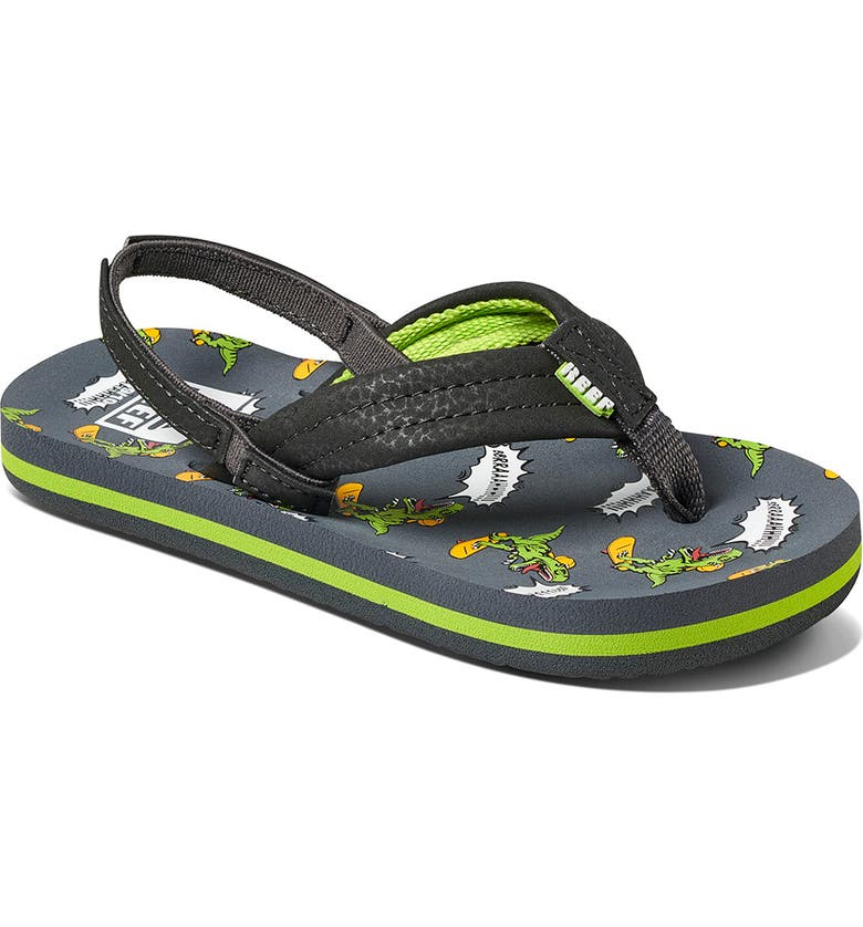 REEF Little Ahi Water Resistant Sandal, Main, color, GREY MULTI