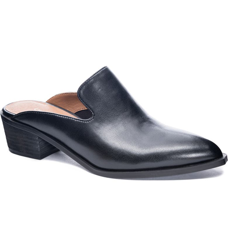 CHINESE LAUNDRY Marnie Loafer Mule, Main, color, BLACK FAUX LEATHER