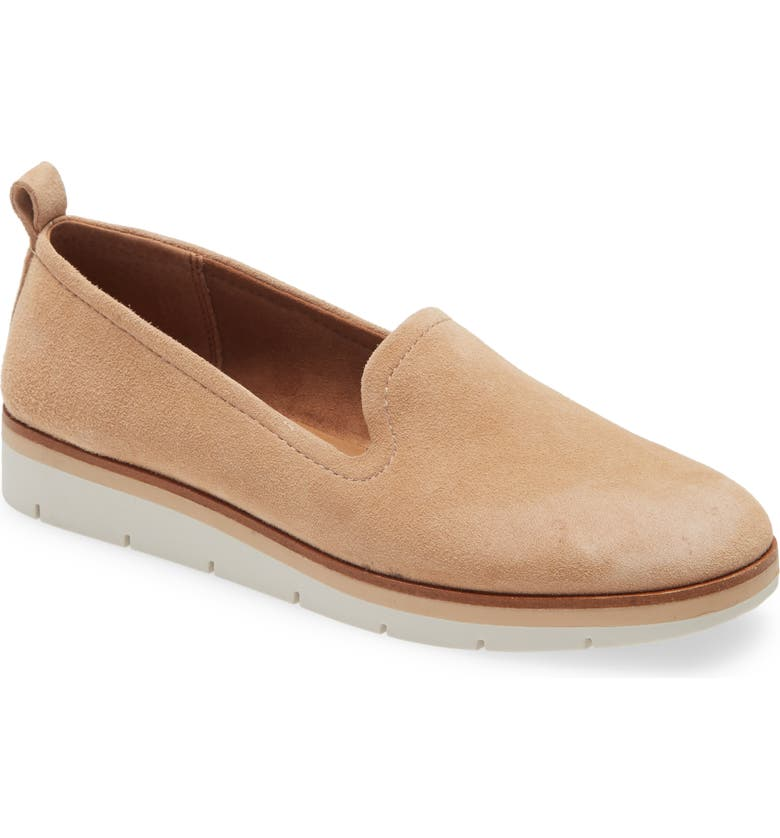CASLON<SUP>®</SUP> Hadley Soft Suede Flat, Main, color, BROWN LATTE
