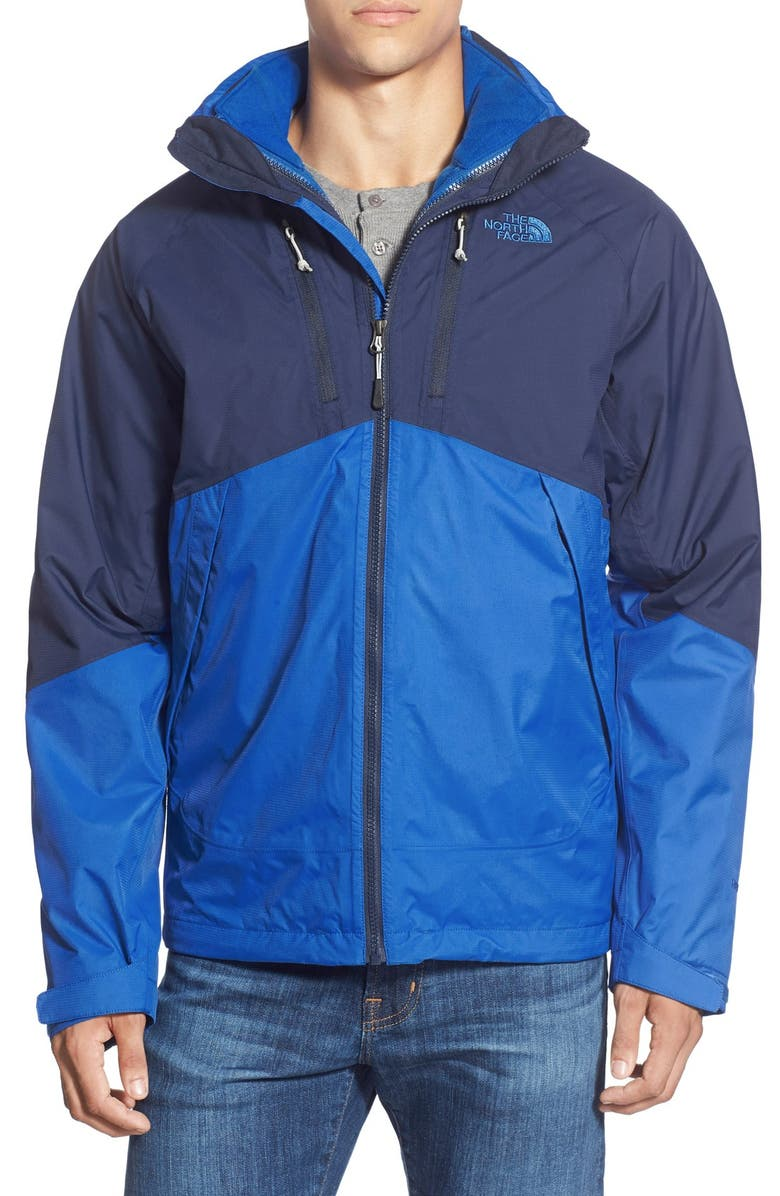THE NORTH FACE 'Condor' TriClimate<sup>®</sup> Apex ClimateBlock<sup>®</sup> Waterproof & Windproof 3-in-1 Jacket, Main, color, MONSTER BLUE/ COSMIC BLUE