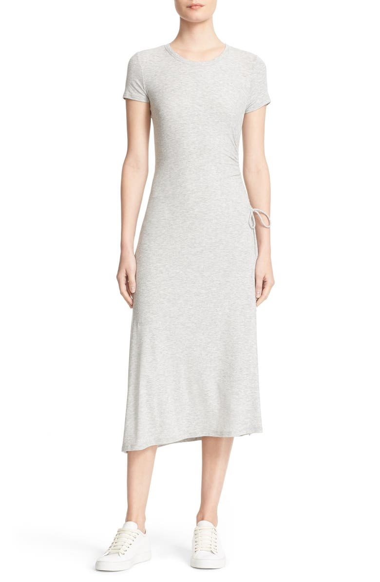 THEORY Jilaena Asymmetrical Midi Dress, Main, color, 080