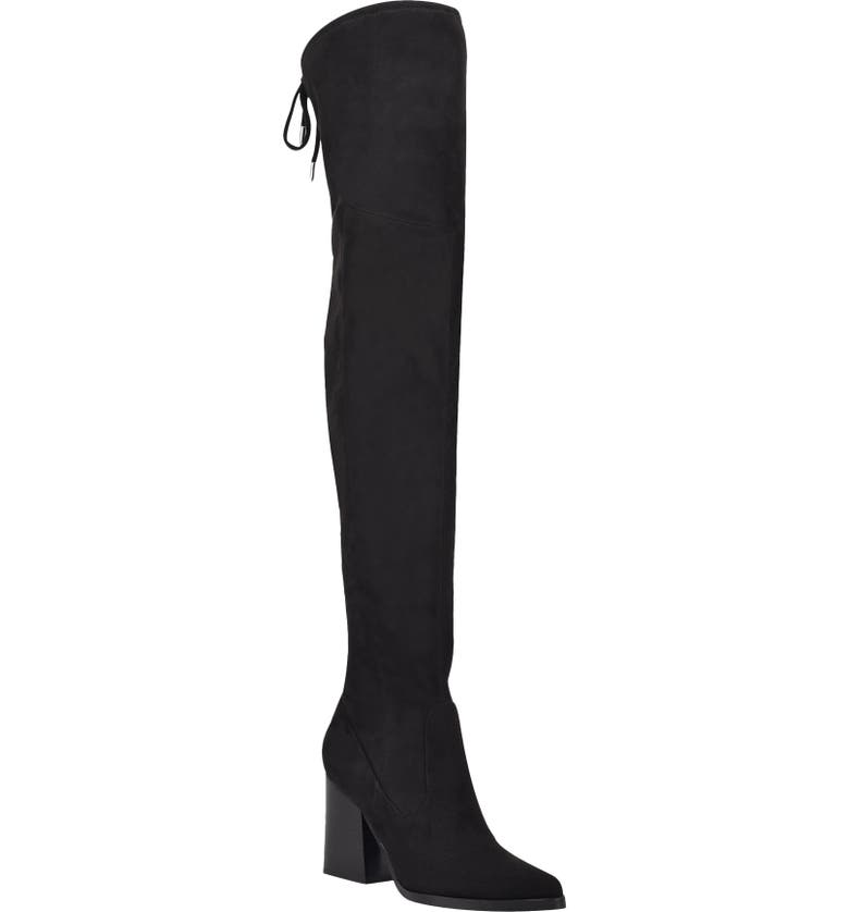 MARC FISHER LTD Octavie Over the Knee Boot, Main, color, BLACK SUEDE