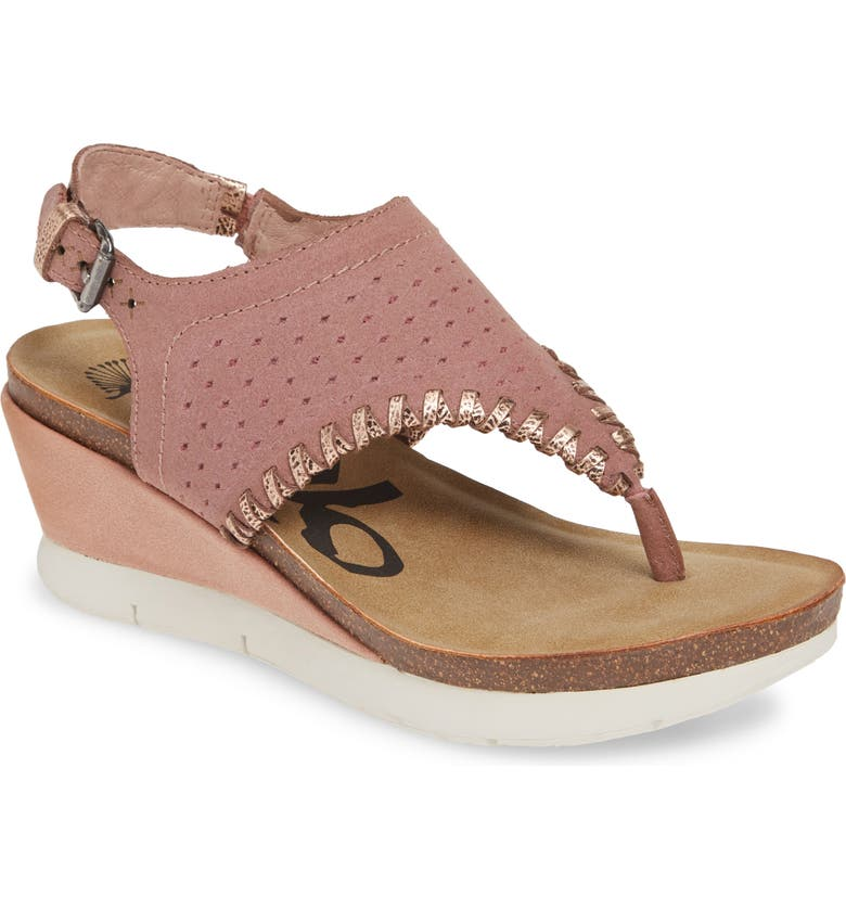 OTBT Meditate Wedge Sandal, Main, color, SALMON
