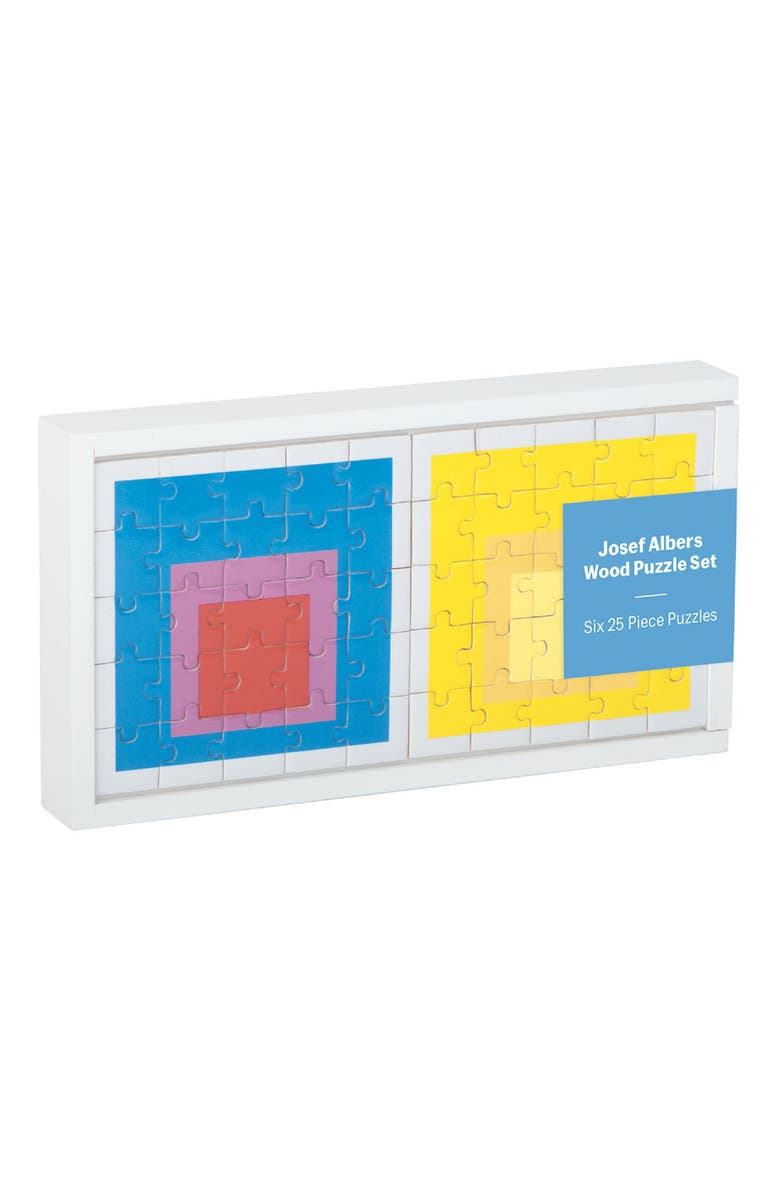 CHRONICLE BOOKS MoMA Josef Albers Set of 6 Wood Puzzles, Main, color, 700