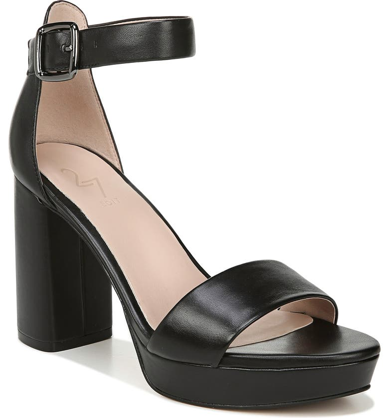 27 EDIT Briar Platform Sandal, Main, color, BLACK LEATHER
