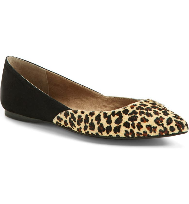 BP. 'Doubletime' Pointy Toe Flat, Main, color, 006