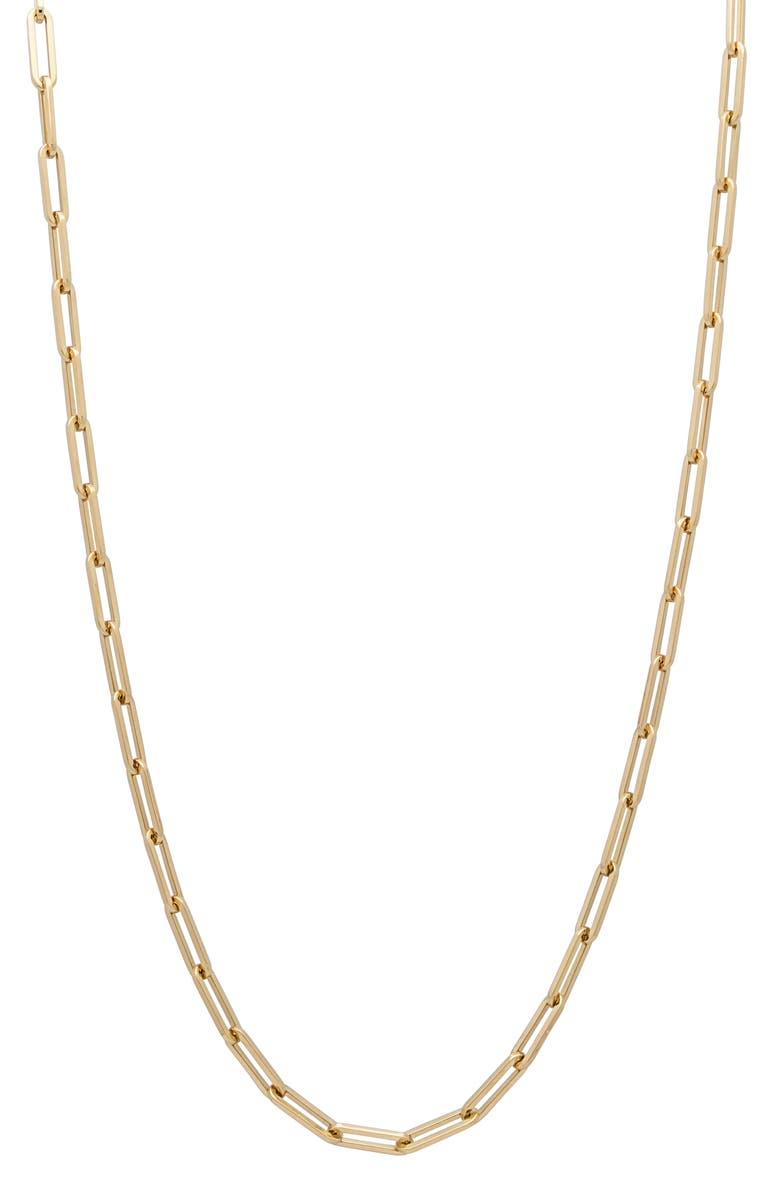 STEPHANIE WINDSOR Paper Clip Chain Necklace, Main, color, YELLOW GOLD