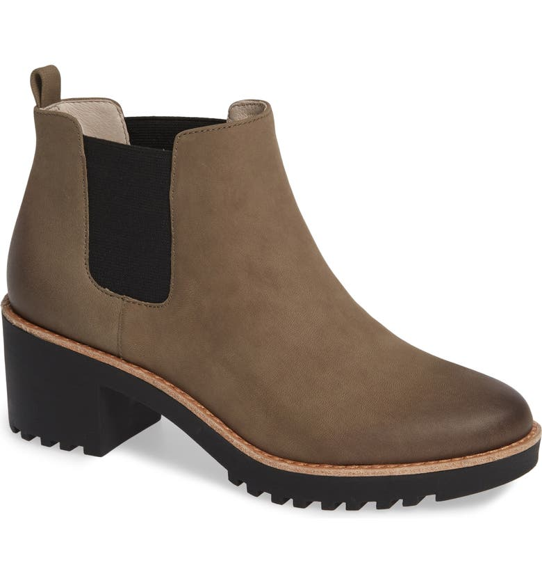 CASLON<SUP>®</SUP> Joshua Water Resistant Bootie, Main, color, STONE LEATHER