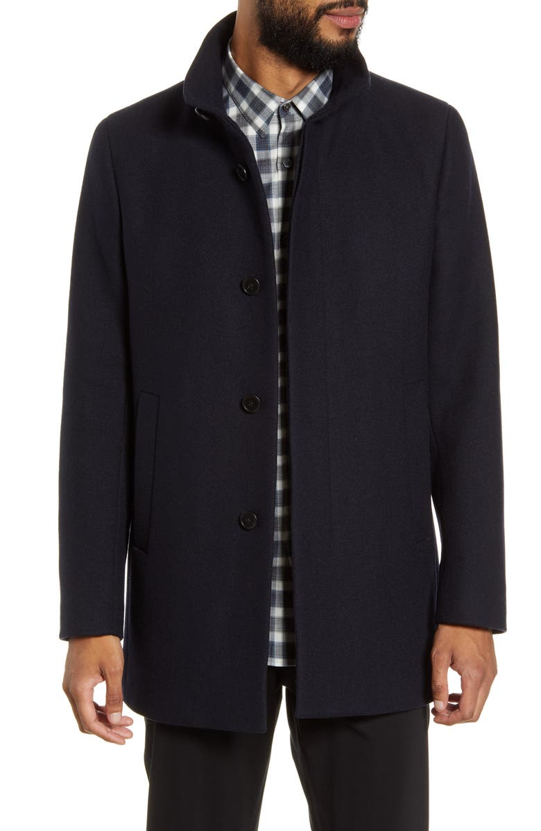 THEORY Renew Regular Fit Wool Blend Coat, Main, color, ECLIPSE