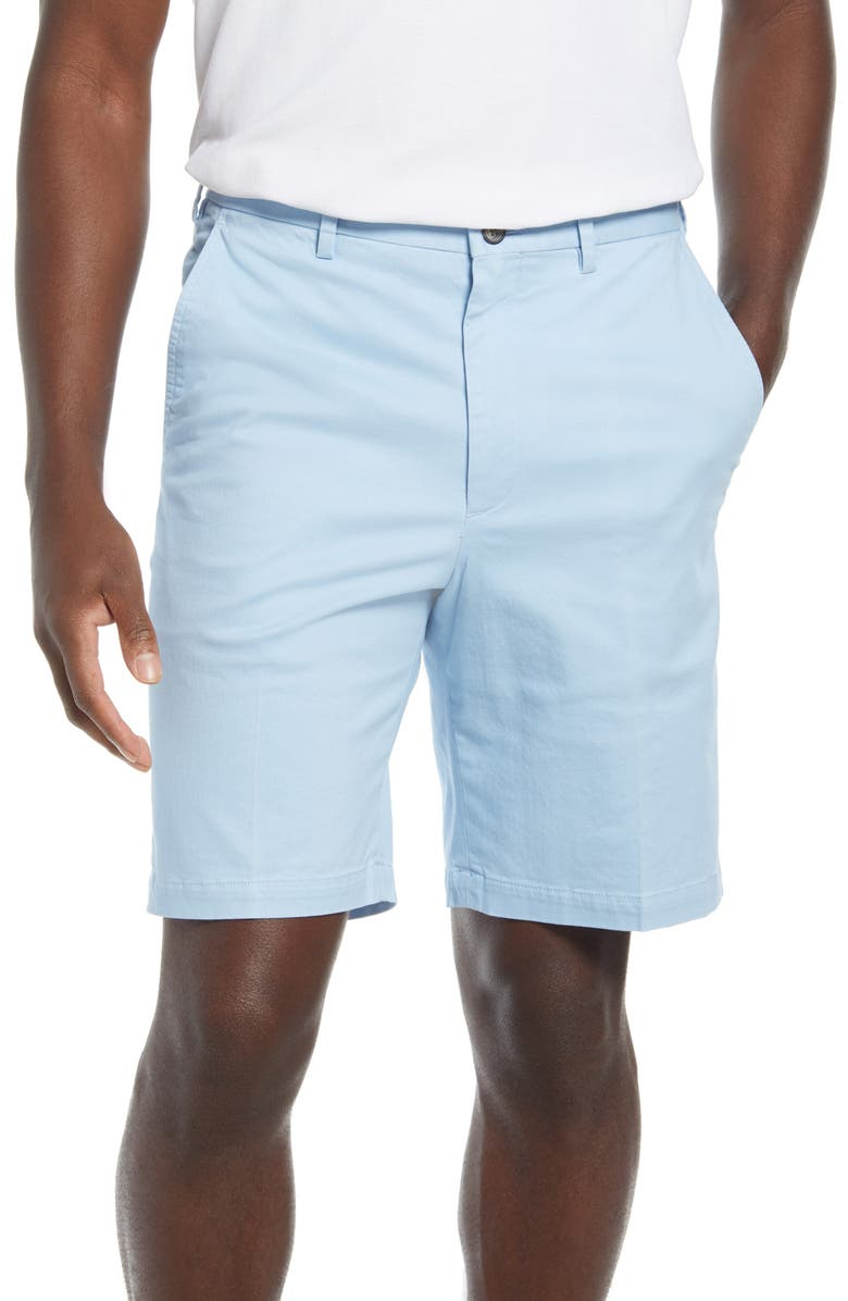 VINTAGE 1946 Men's Classic Flat Front Chino Shorts, Main, color, SKY