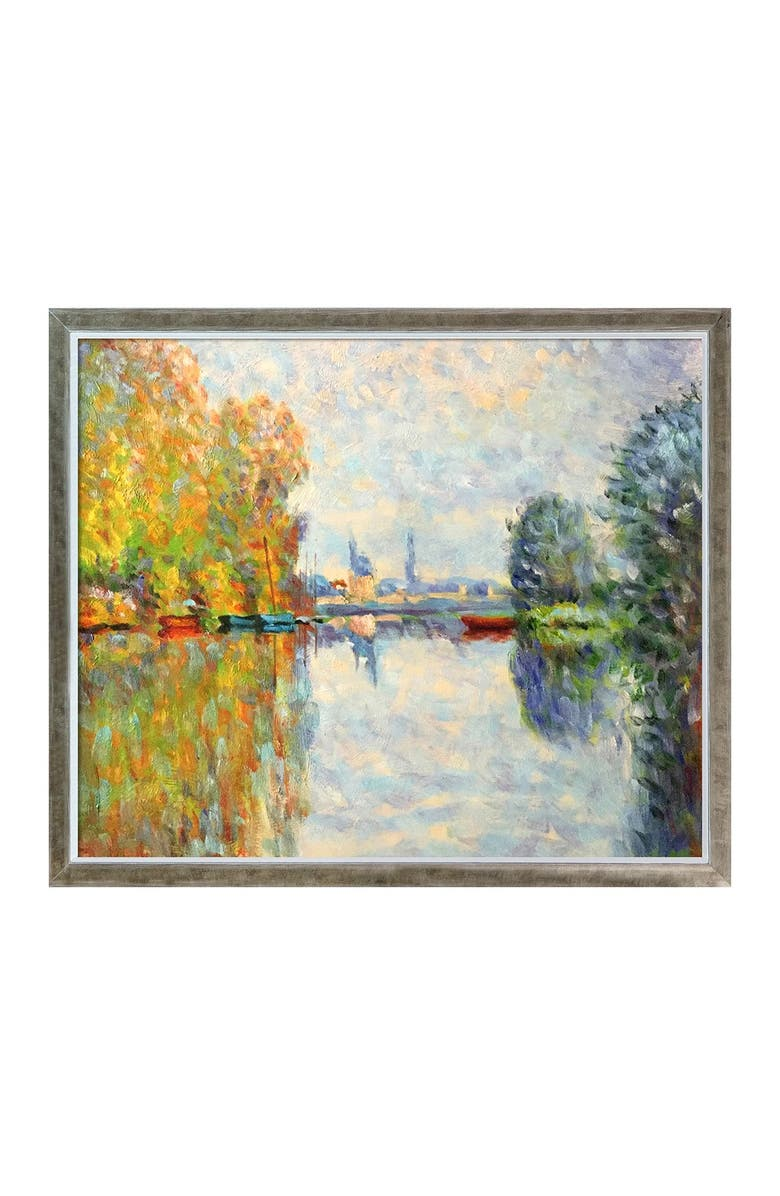 OVERSTOCK ART Autumn on the Seine at Argenteuil Framed Oil Reproduction of an Original Painting by Claude Monet, Main, color, MULTI