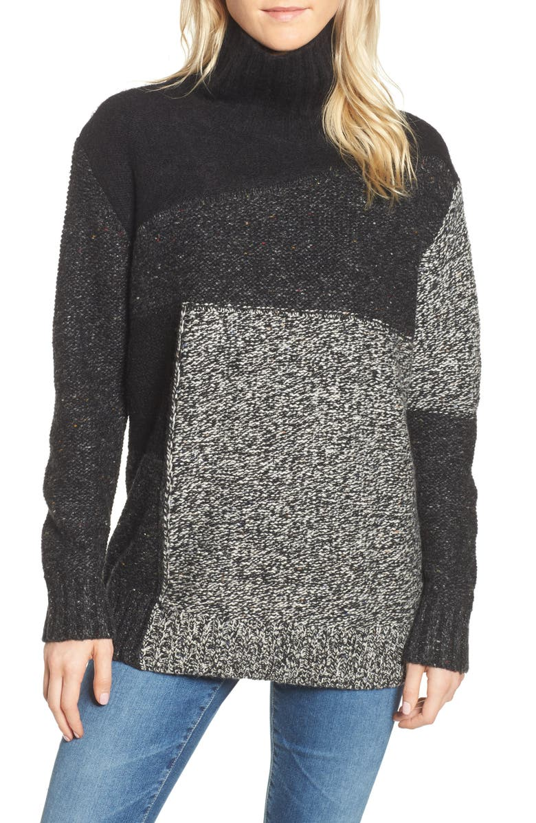 FRENCH CONNECTION Anna Patchwork Turtleneck, Main, color, 006