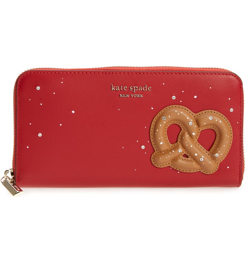 KATE SPADE NEW YORK on a roll zip clutch, Main, color, LAVA FALLS