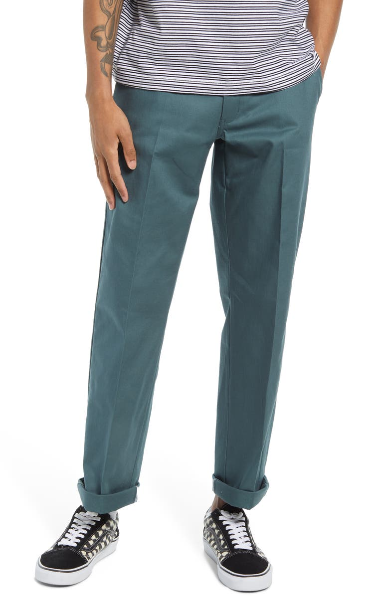 DICKIES Men's Original 874<sup>®</sup> Stretch Cotton Twill Pants, Main, color, LINCOLN GREEN