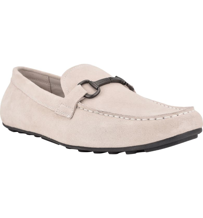CALVIN KLEIN Olaf Driving Loafer, Main, color, Grey