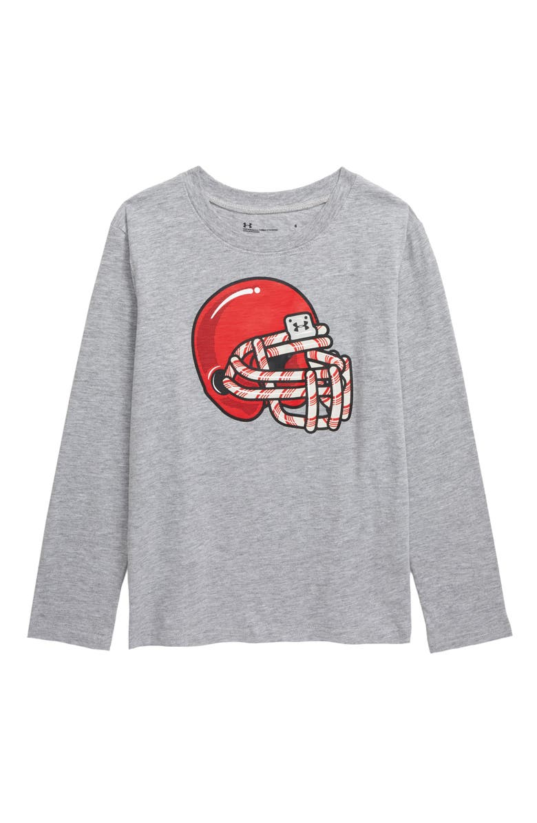UNDER ARMOUR Candy Cane Football Scented T-Shirt, Main, color, 050