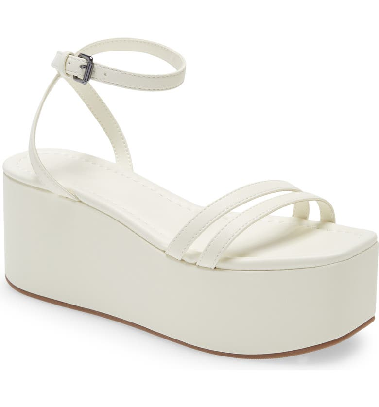 OPEN EDIT Edavah Flatform Sandal, Main, color, WHITE
