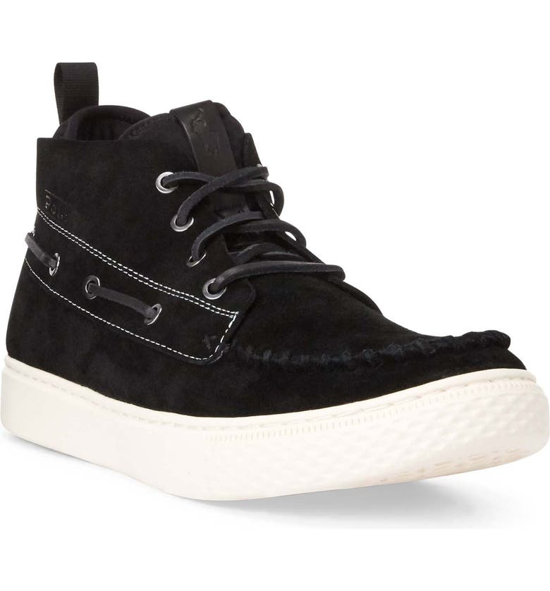 POLO RALPH LAUREN 100 Chukka Boot, Main, color, BLACK/ EGRET SUEDE