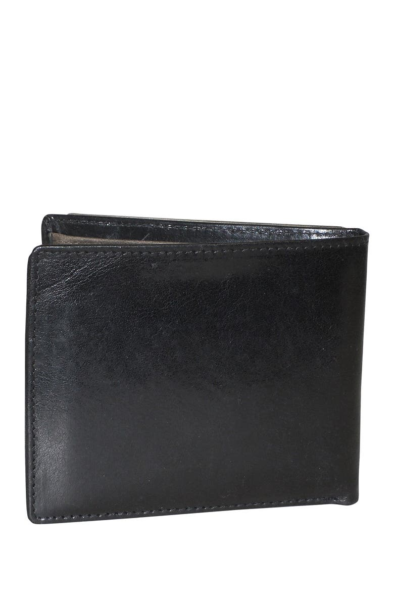 DOPP RFID Alpha Convertible Leather Wallet, Main, color, BLACK