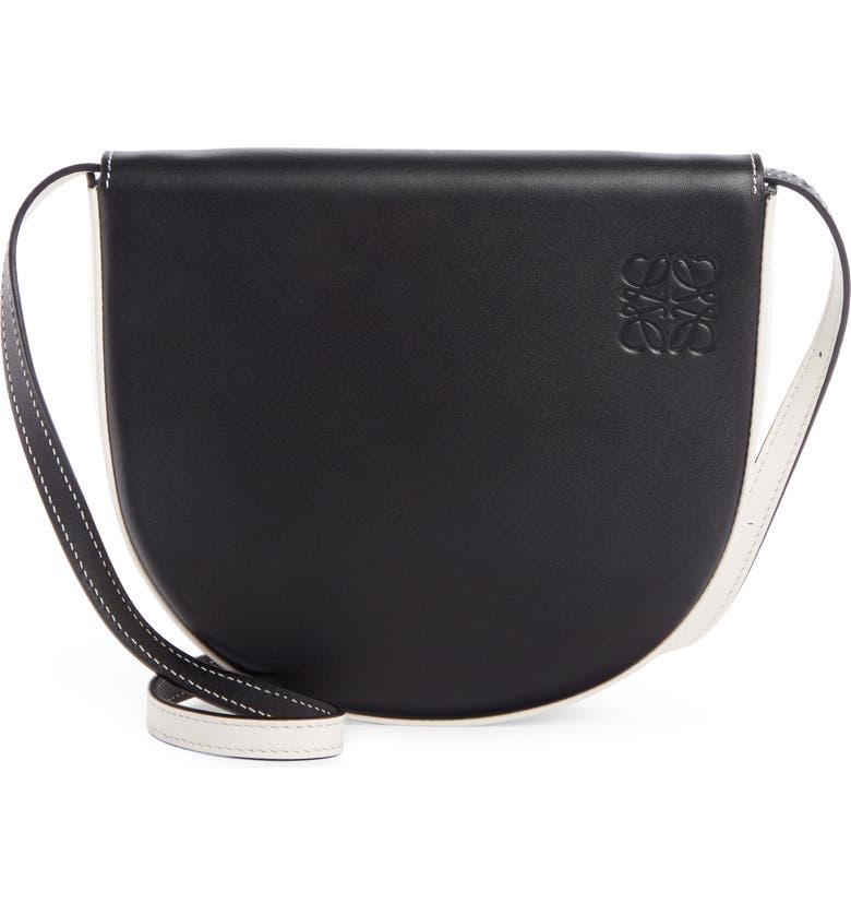 LOEWE Heel Leather Crossbody Bag, Main, color, 001