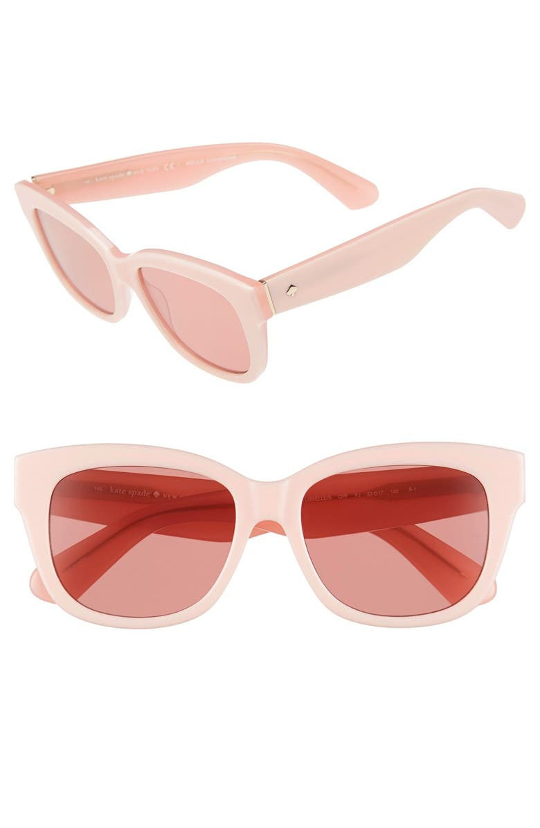 KATE SPADE NEW YORK 'lorelle' 53mm cat eye sunglasses, Main, color, 650