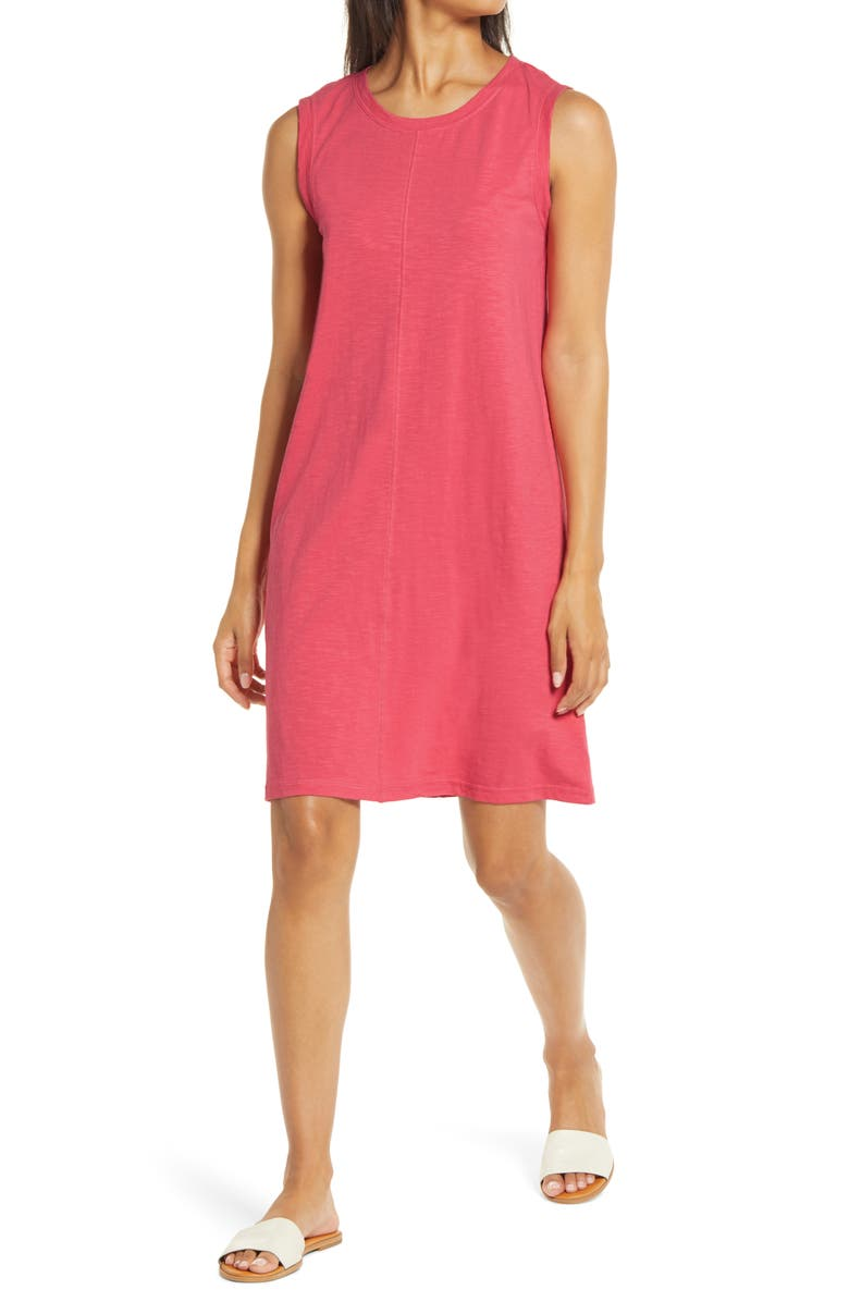 CASLON<SUP>®</SUP> Muscle Tank Dress, Main, color, RED CHATEAUX