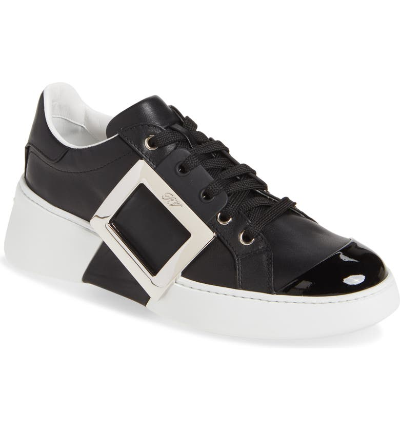 ROGER VIVIER Viv Skate Buckle Sneaker, Main, color, Black