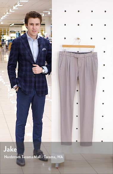 Slim Fit Washed Wool Dress Pants, sales video thumbnail