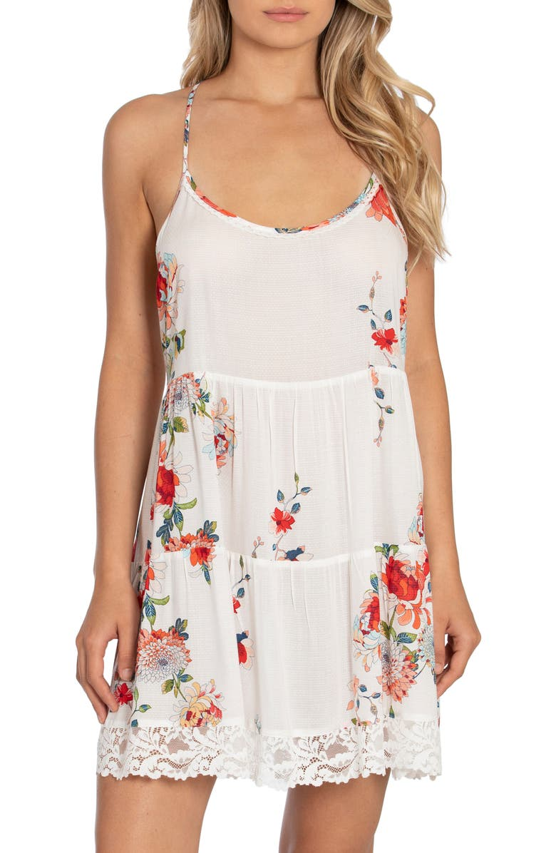 IN BLOOM BY JONQUIL All My Loving Floral Chemise, Main, color, 900