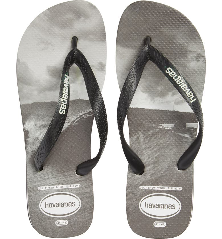 HAVAIANAS Top Photo Print Flip Flop, Main, color, 001